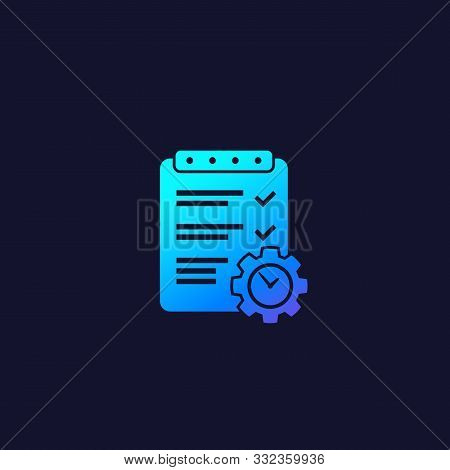 Project Management Vector Icon, Eps 10 File, Easy To Edit
