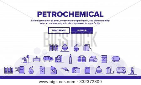 Petrochemical Industry Vector Thin Line Icons Set. Petrochemical Product, Oil, Petroleum Production