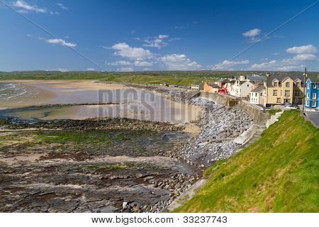 Lahinch beach scenery in Co. Clare, Ireland