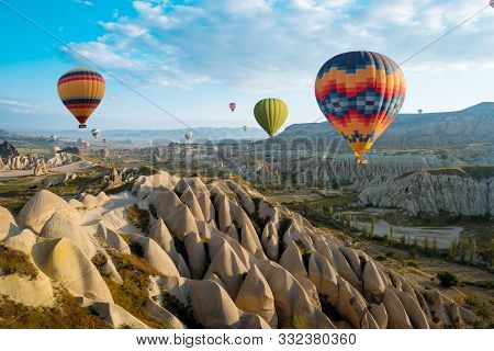 Great Tourist Attraction Of Cappadocia Balloon Flight. Cappadocia Is One Of The Best Places To Fly W