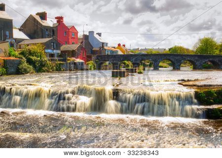 Beautiful cascades of Ennistymon in Co. Clare, Ireland