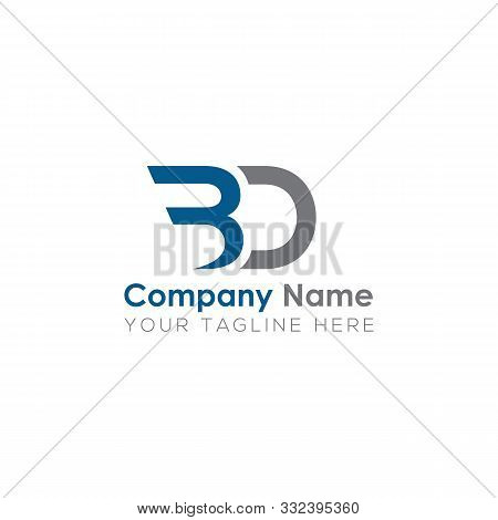 Initial Bd Logo Template With Minimalist Look. Letter Bd, Bd, Bd Logo, Idea, Trendy, Text, Initials.