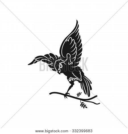 Nature Bird Logo Illustration, Nature Bird Logo, Animal Rescue Foundation, Flying Bird Logo. Line Ar
