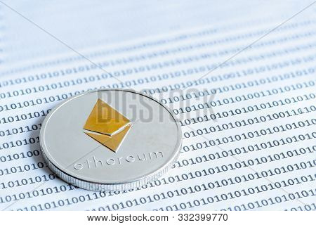 Ethereum (eth) Coins. Data Protection, Security And Data Exchange, Keep Wallet Safe And Protecting A
