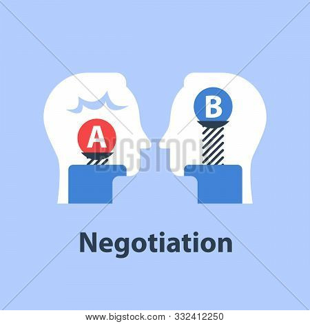 Decision Making, Outweigh Scale, Bias And Mindset, Positive Or Negative, Between Two Sides, Negotiat
