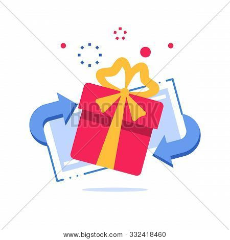 Prize Giveaway, Loyalty Card, Present Box, Gift Certificate, Incentive Or Perks, Bonus Program, Disc