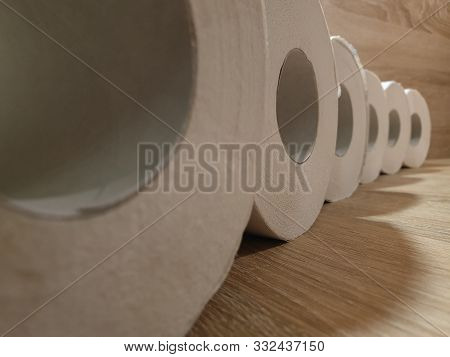 Rolls Of Toilet Paper. Toilet Paper In The Close-up.