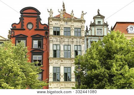 Long Market Street, Typical Colorful Houses, Golden House, Gdansk, Poland