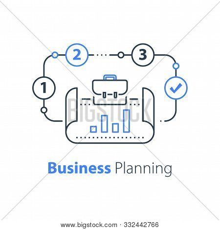 Business Plan, Company Performance Report, Success Strategy, Revenue Improvement, Start Up Concept,