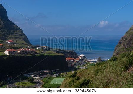 Sao Vicente; Madeira; Portugal - October 30; 2019: The Main Street View Of Sao Vicente From Mountain