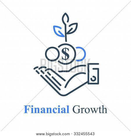 Hand Taking Coins, Give Money, Donation Concept, Debt Refinance, Loan Payment Installment, Budget Ex