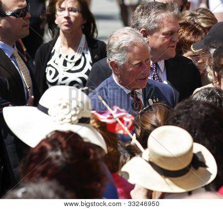 Prince Charles Saint John Walkabout