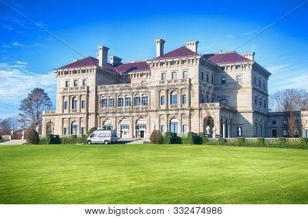 Newport, Rhode Island. November 27, 2017.  The Historic Building At Salve Regina University Used To