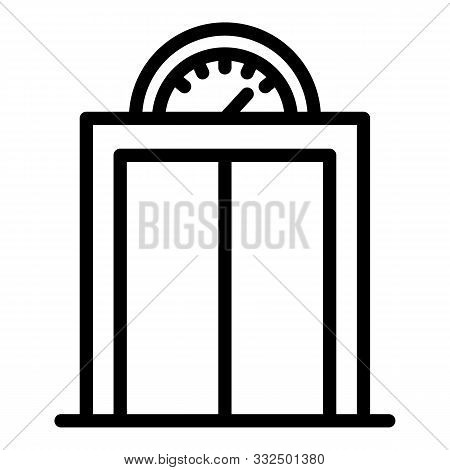 Elevator With Analogue Pitch Icon. Outline Elevator With Analogue Pitch Vector Icon For Web Design I