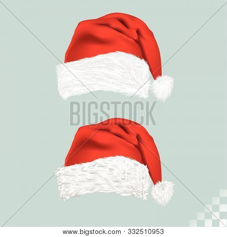Red And White Classic Xmas Kris Kringle Hat