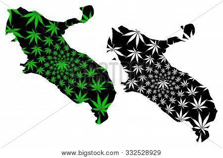 Ilam Province (provinces Of Iran, Islamic Republic Of Iran, Persia) Map Is Designed Cannabis Leaf Gr