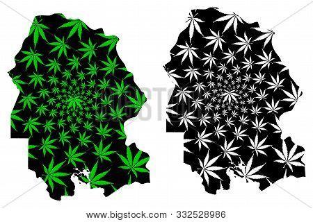 Khuzestan Province (provinces Of Iran, Islamic Republic Of Iran, Persia) Map Is Designed Cannabis Le