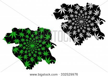 Kurdistan Province (provinces Of Iran, Islamic Republic Of Iran, Persia) Map Is Designed Cannabis Le