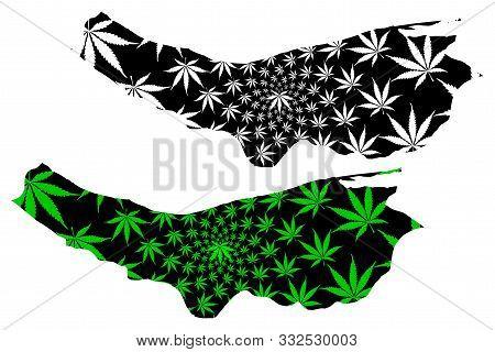 Mazandaran Province (provinces Of Iran, Islamic Republic Of Iran, Persia) Map Is Designed Cannabis L