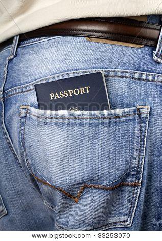 American Passport In Back Pocket