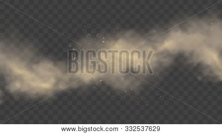 White Or Gray Smoke, Realistic Mist Or Dust Motion, Cloud On Transparent Background Or Fog In Light.