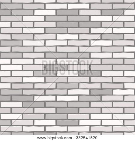 Brick Wall Textured Wallpaper. Seamless Vector Pattern. Background Material. Modern Design. Geometri