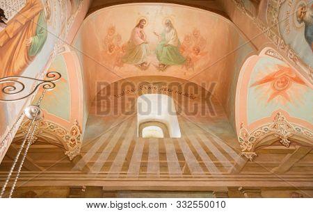 Sergiev Posad, Moscow Region, Russia - May 10, 2018: Trinity Lavra Of St. Sergius, Interior Of Churc