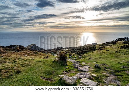 Path On Top Of The Slieve League Cliffs Which Are Among The Highest Sea Cliffs In Europe Rising 1972