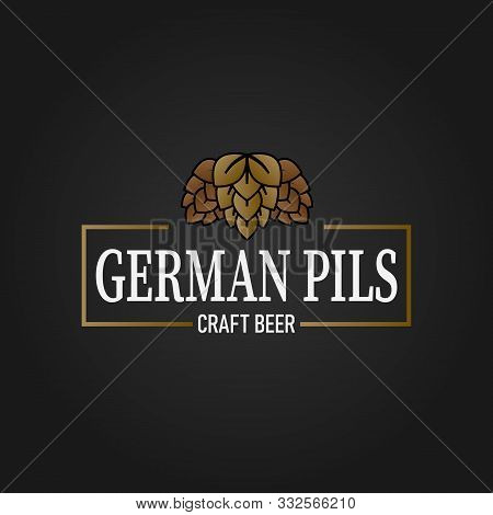 Premium German Pils Pilsener Craft Beer Lable Web Badge Icon