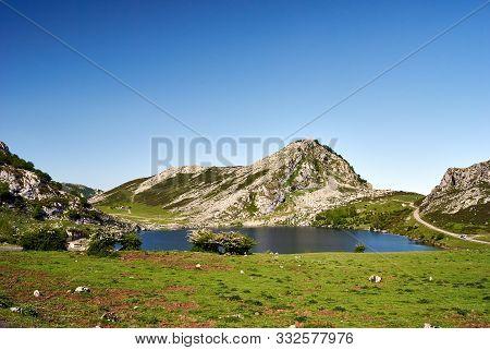 Enol Lake. Covagonga, Asturias, Spain