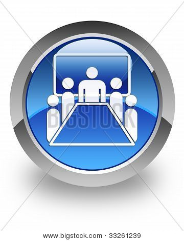 Meeting room glossy icon