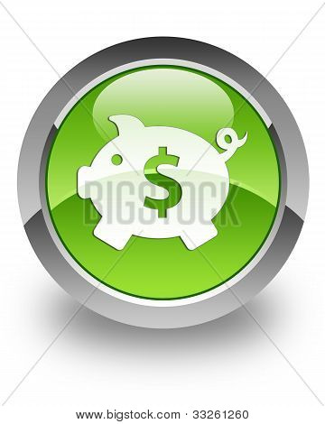 Money box (dollar) glossy icon