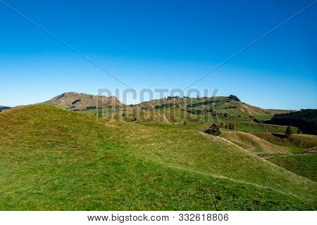 Hills And Valleys Of Rural Heartland Of Agriculture And Faming