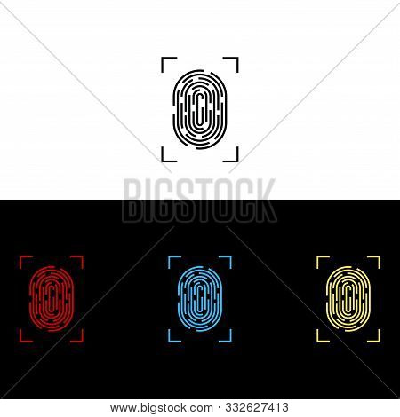 Fingerprint Icon Isolated On White Background From Security Collection. Fingerprint Icon Trendy And