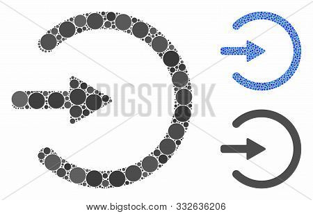 Entrance Mosaic Of Small Circles In Various Sizes And Color Tones, Based On Entrance Icon. Vector Sm
