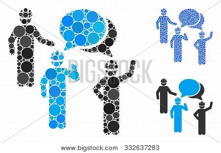 Engineer Persons Forum Composition Of Round Dots In Variable Sizes And Color Hues, Based On Engineer