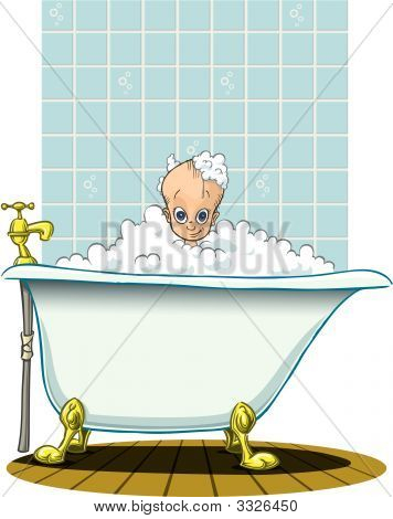 Bath Time For Baby