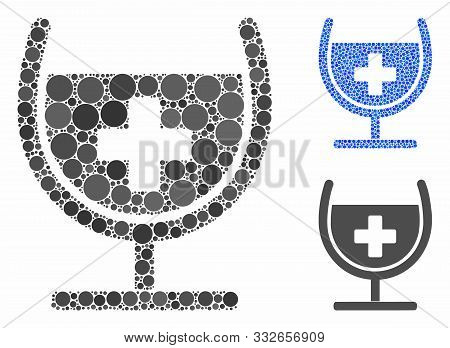 Remedy Syrup Glass Mosaic Of Small Circles In Various Sizes And Color Tinges, Based On Remedy Syrup