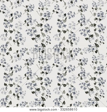 Floral Seamless Small Flowers Pattern Background  Retro