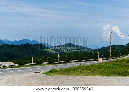 Tihuta Pass, Romania - June 19, 2019: Beautiful Landscape In Tihuta Pass Between Transylvania And Mo