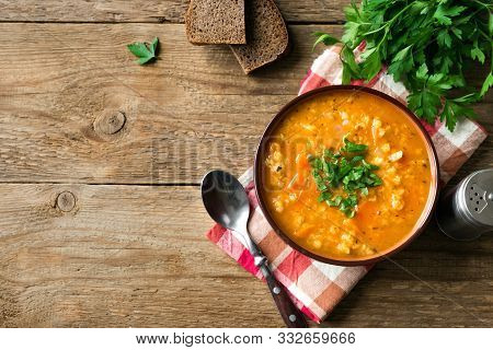 Red Lentil Soup Or Dal