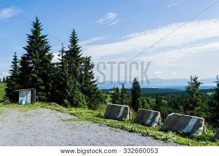 Beautiful Landscape In Tihuta Pass Between Transylvania And Moldova Land.