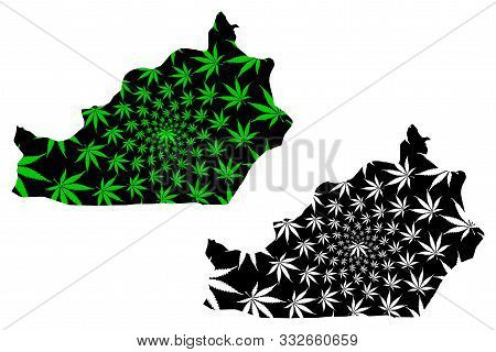 Semnan Province (provinces Of Iran, Islamic Republic Of Iran, Persia) Map Is Designed Cannabis Leaf