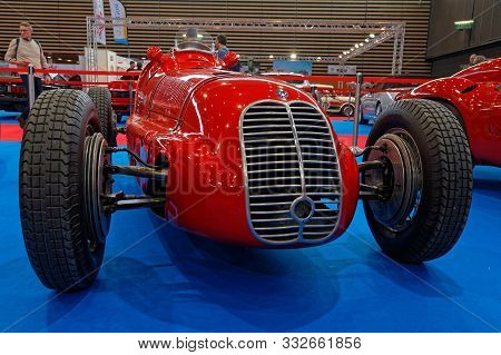 Lyon, France, November 8, 2019 : Maserati At The Show. The Motorshow Epoq Auto Stands In Lyon Since