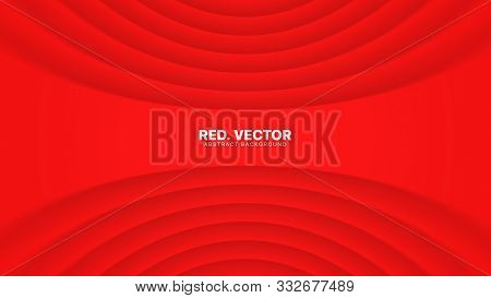 3d Vector Red Luxury Gala Ceremonial Elegant Abstract Background. Clear Blank Subtle Geometric Disto