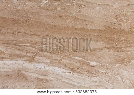 Brown Travertine Texture, Expensive And Precious Natural Stone Background.