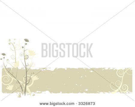 Floral Banner Background