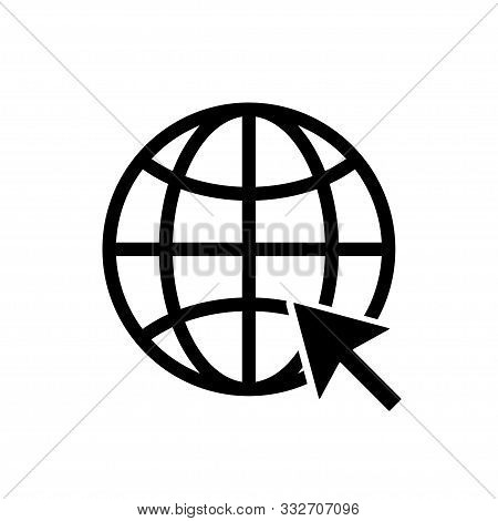 Web Icon. Www Sign. Search Www Vector Icon. Web Hosting Technology. Globe Hyperlink Icon. Isolated V