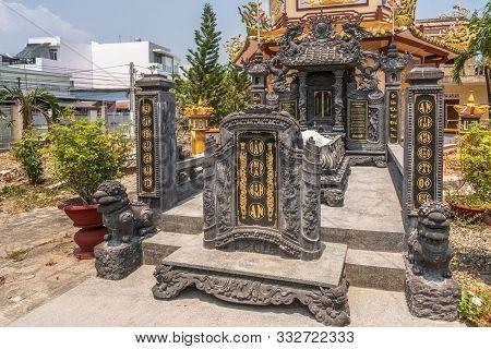 Nha Trang, Vietnam - March 11, 2019: Chua Loc Tho Buddhist Temple, Primary School And Orphanage. Gra