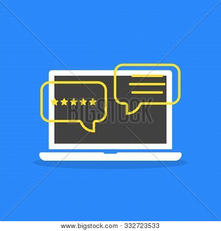 Positive Feedback From Client Or Customer. Concept Of User Interface For On-line Instant Messages Or
